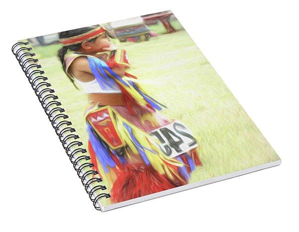 Little Native American Dancer Spiral Notebook