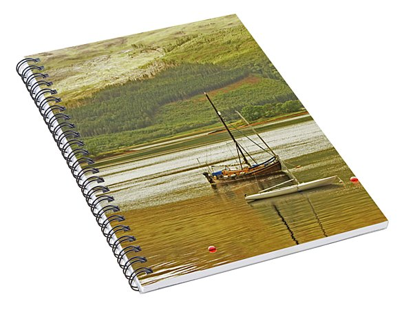 Loch Leven. The Boats At Ballachulish Spiral Notebook