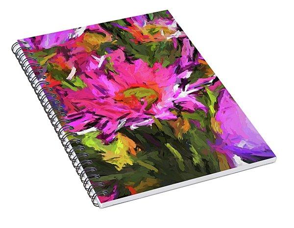 Lolly Pink Daisy Flower Spiral Notebook