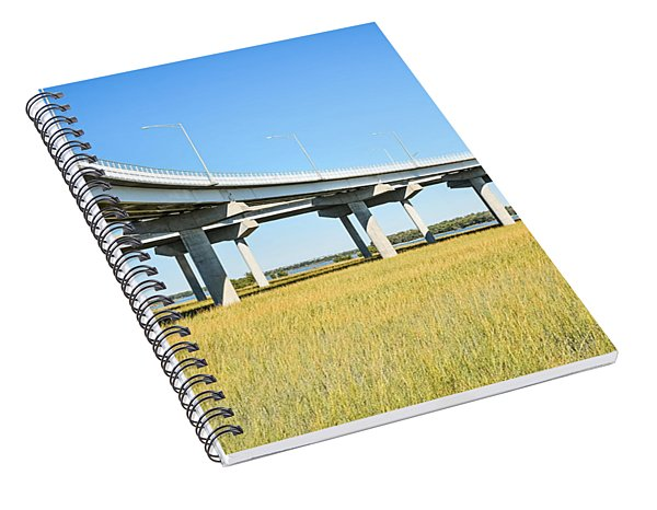 Long Concrete Bridge  Spiral Notebook