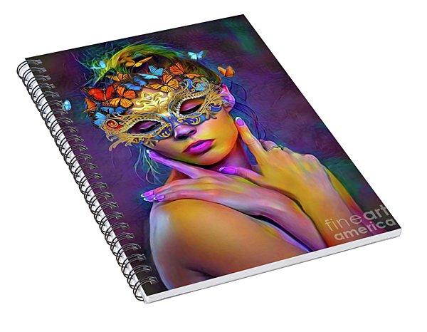 Madame Butterfly Spiral Notebook
