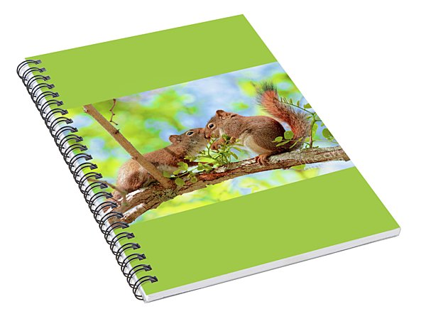 Mama Red Kissing Baby Spiral Notebook