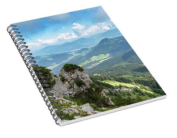 Spiral Notebook featuring the photograph Mannlsteig, Berchtesgadener Land by Andreas Levi
