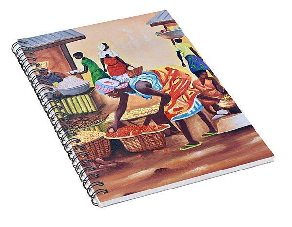 Market Place Scene Spiral Notebook