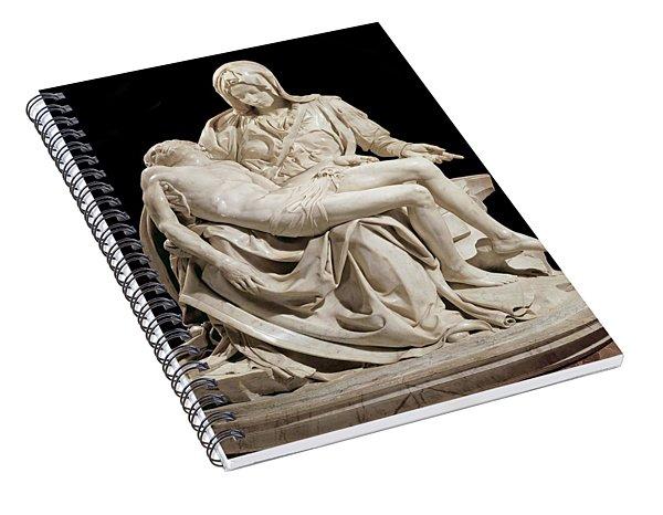 Michelangelo La Pieta Spiral Notebook