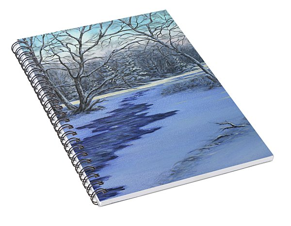 Millhaven Creek In Winter Spiral Notebook