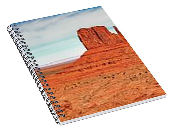 Spiral Notebook featuring the photograph Monument Valley Panorama by Andy Crawford