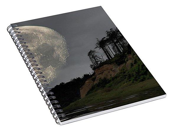 Moon And Beach Spiral Notebook