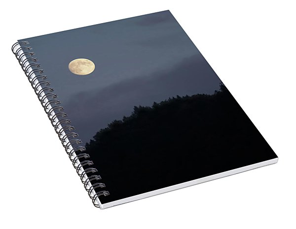 Moon Over Hill Spiral Notebook