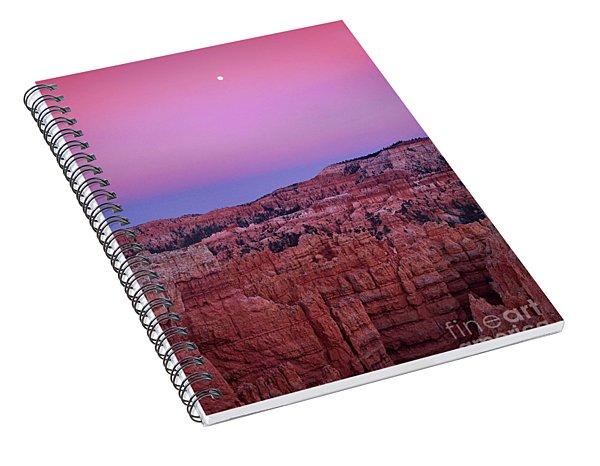 Moonrise Over The Hoodoos Bryce Canyon National Park Utah Spiral Notebook