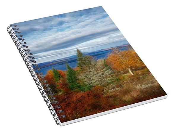 Mooselookmeguntic Lake Fall Colors Spiral Notebook