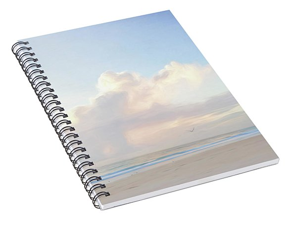 Morning Beach Walk 69x92 Spiral Notebook