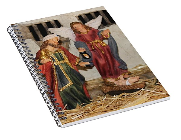 My German Traditions - Christmas Nativity Scene Spiral Notebook