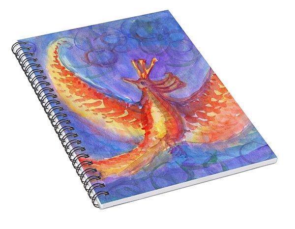 Mystical Phoenix Spiral Notebook