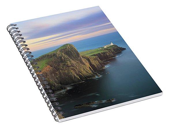 Neist Point Lighthouse On Skye At Sunset Spiral Notebook