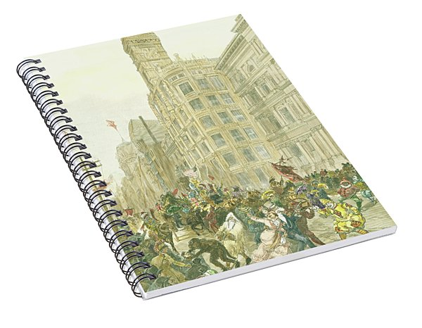 New Years Mummers On Chestnut Street Spiral Notebook