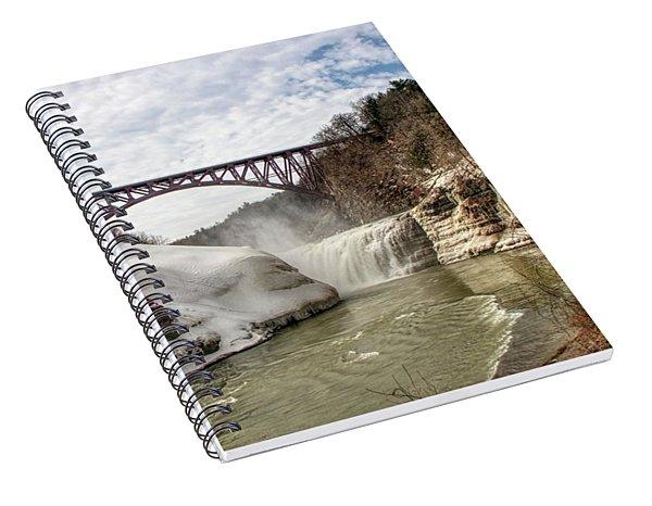 Winter At Letchworth State Park Spiral Notebook