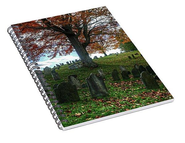 Old Hill Burying Ground In Autumn Spiral Notebook