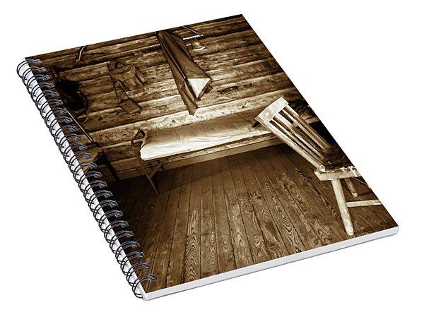 Old Mining Cabin Spiral Notebook