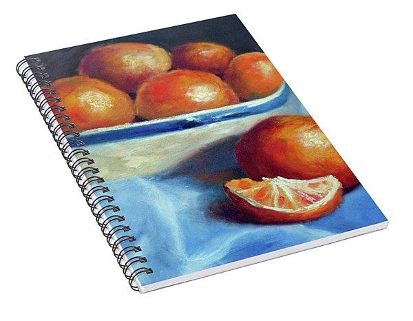 Oranges And Blue Spiral Notebook