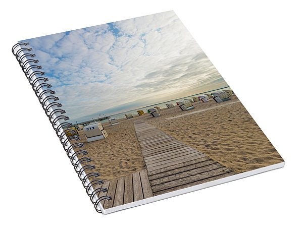 Spiral Notebook featuring the photograph Baltic Sea Idyllic Evening Atmosphere by Melanie Viola