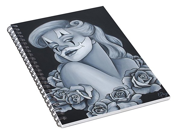 Pin Up Roses Spiral Notebook