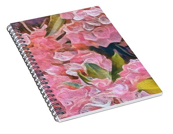 Pink Bougainvillea Spiral Notebook