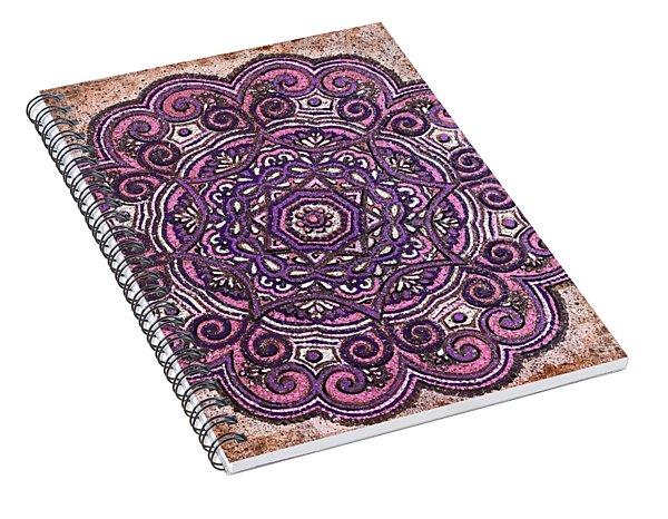 Pink Mandala Spiral Notebook