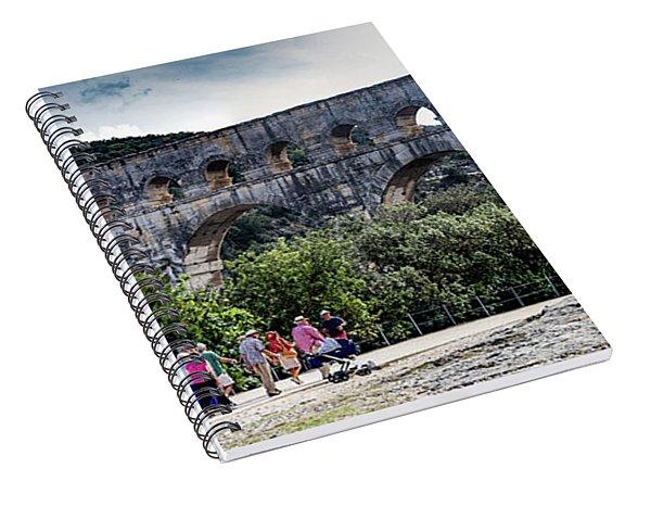 Pont Du Gard Aqueduct  A Unesco World Heritage Site Spiral Notebook