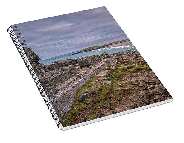 Porthmeor Beach January View Spiral Notebook