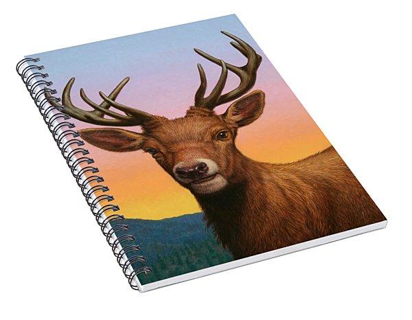 Portrait Of A Red Deer Spiral Notebook