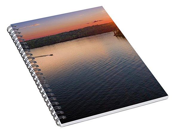 Racing The Sun Spiral Notebook