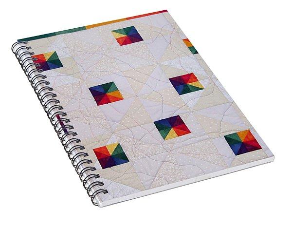 Rainbow Pinwheel Spiral Notebook