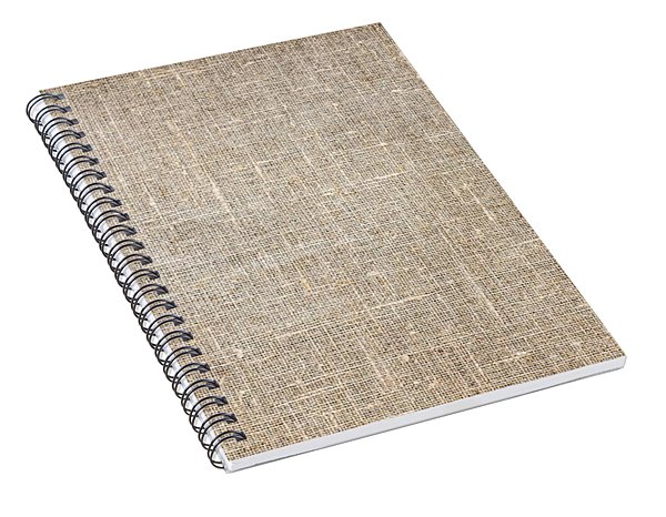 Raw Natural Linen Spiral Notebook