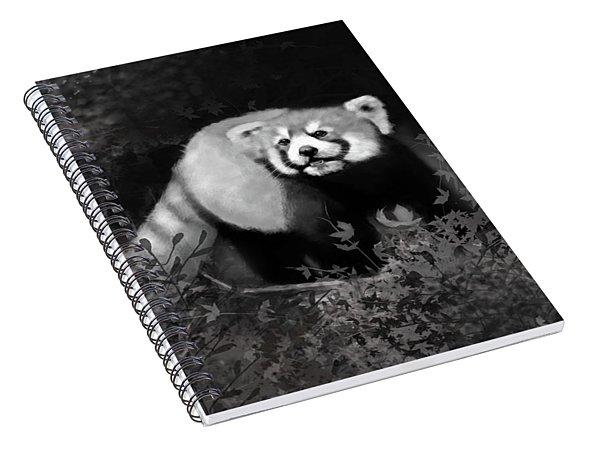 Spiral Notebook featuring the digital art Red Panda by Angela Murdock