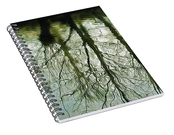 Spiral Notebook featuring the photograph Reflections by Leigh Kemp