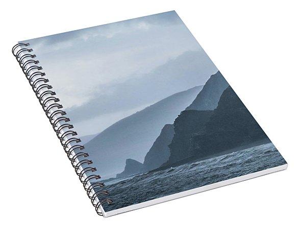Rocky Coastline In West Wales Spiral Notebook