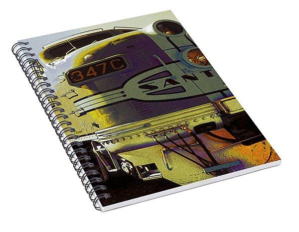 Santa Fe Railroad 347c - Digital Artwork Spiral Notebook
