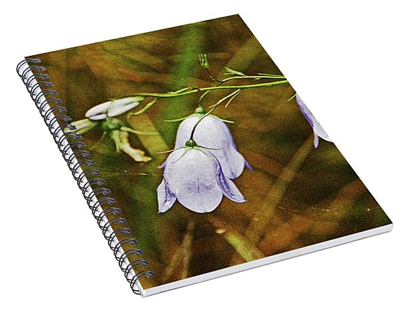Scotland. Loch Rannoch. Harebells In The Grass. Spiral Notebook