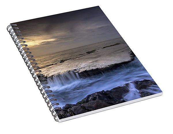 Sea Waterfalls Spiral Notebook