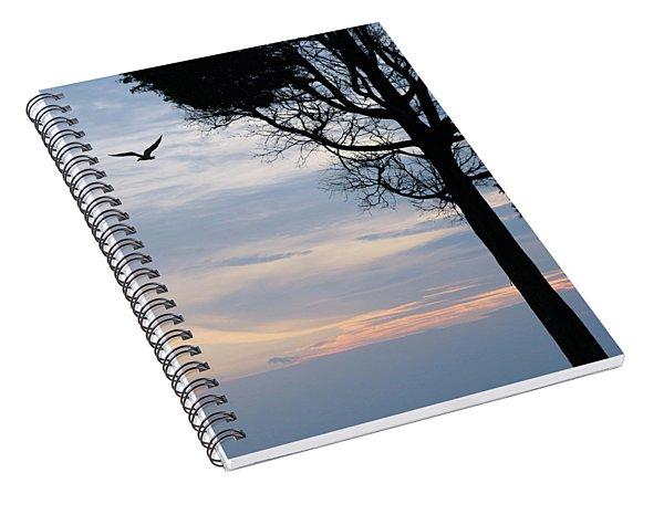 Seagull Sunset At Catawba Spiral Notebook
