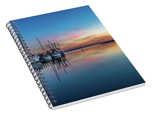Shem Creek Blue Hour, Mt. Pleasant Sc Spiral Notebook