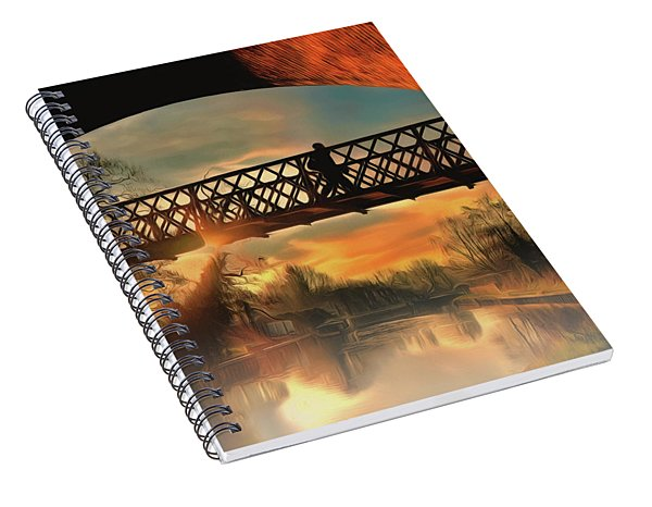 Spiral Notebook featuring the photograph Silhouettes And Shadows by Leigh Kemp