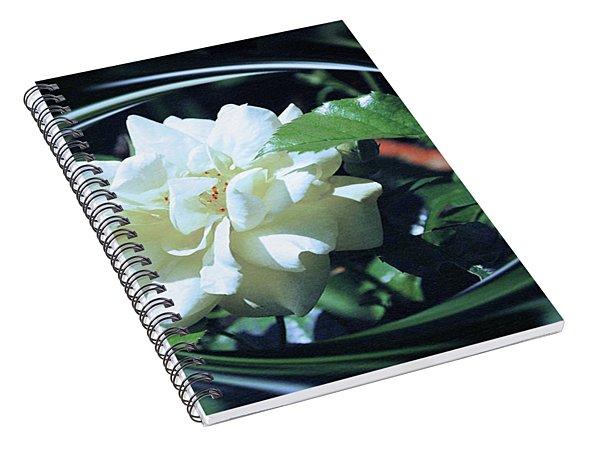 Silk Rose Spiral Notebook