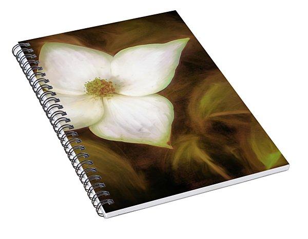 Single Dogwood Flower Sepia Spiral Notebook