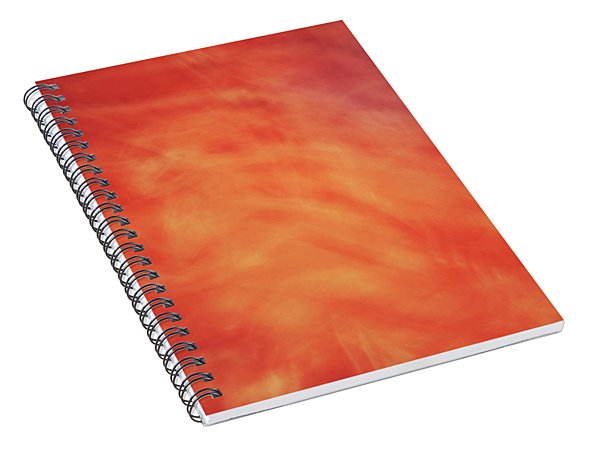 Soft Artistic Fire Like Background Of Red, Orange And Yellow Swirls Spiral Notebook