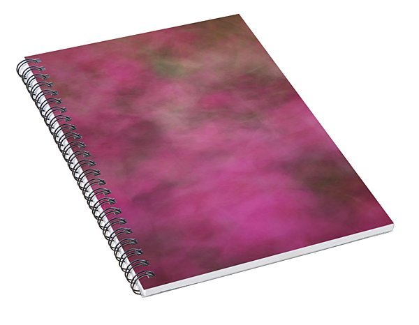 Soft Pastel Flower Like Abstract Blurred Design Of Pinks And Greens Spiral Notebook