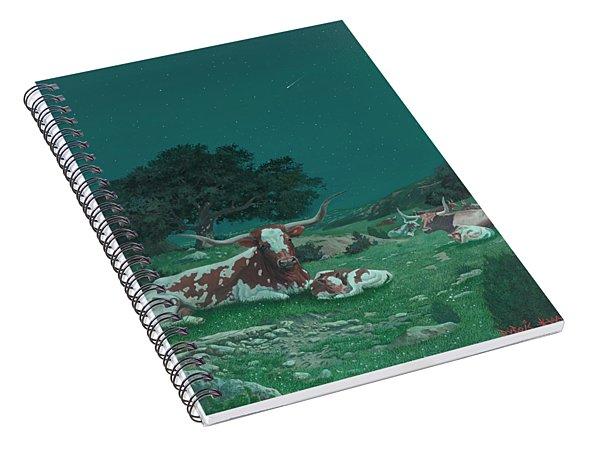 Stars Over Texas Spiral Notebook