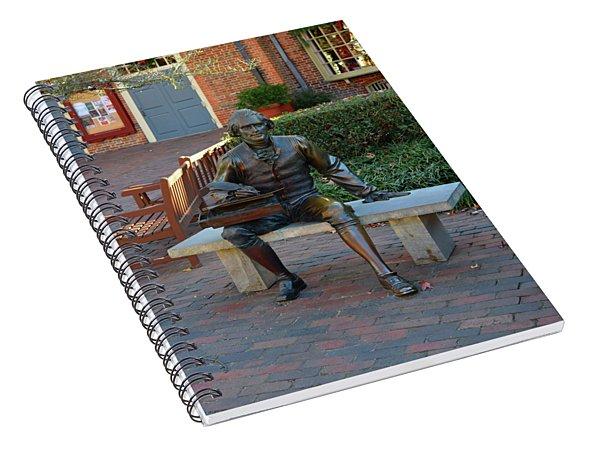 Statute Of Thomas Jefferson Spiral Notebook