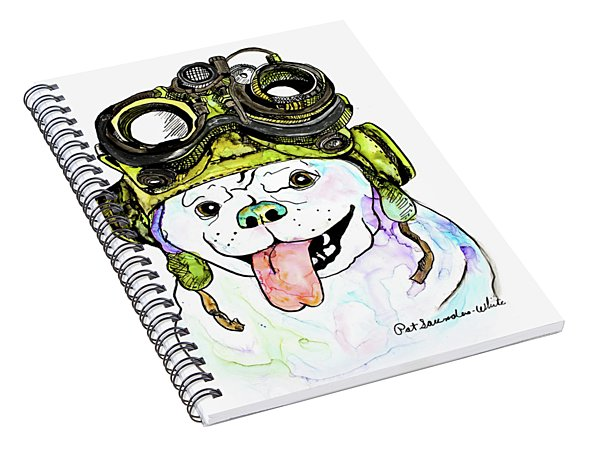 Steampunk Pug Spiral Notebook